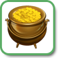 YoVille profile pot of gold icon