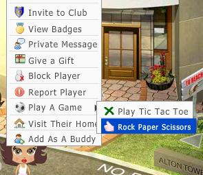 Invite Rock Paper Scissors game